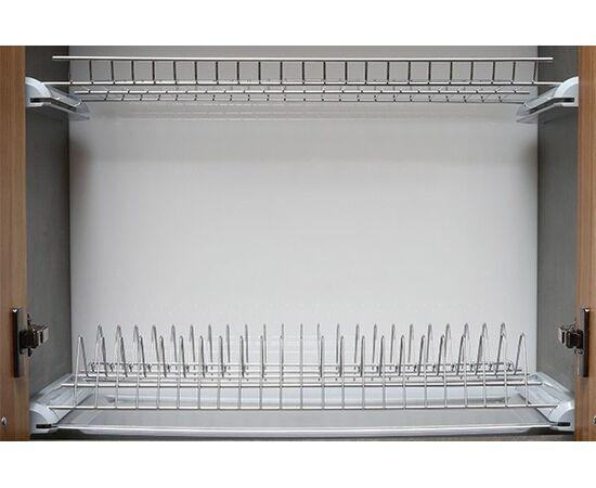Сушка 2-уровневая в базу 900, без рамки, с 1 поддоном, отделка серый металлик (DRB.21/90GMP), фото 1