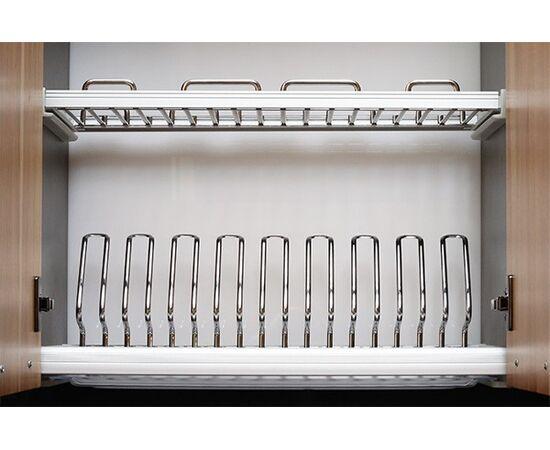 Сушка для посуды Ellite 2-уровневая в базу 900/18, отделка хром, поддон пластик (716KIT90XC516-18), фото 1