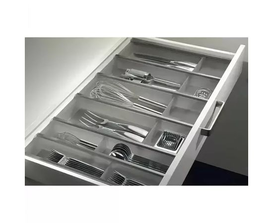 Лоток под столовые приборы в шкаф 400 мм графит NINKA для ящика Blum Tandembox глубиной 500 мм (12240021), фото 1