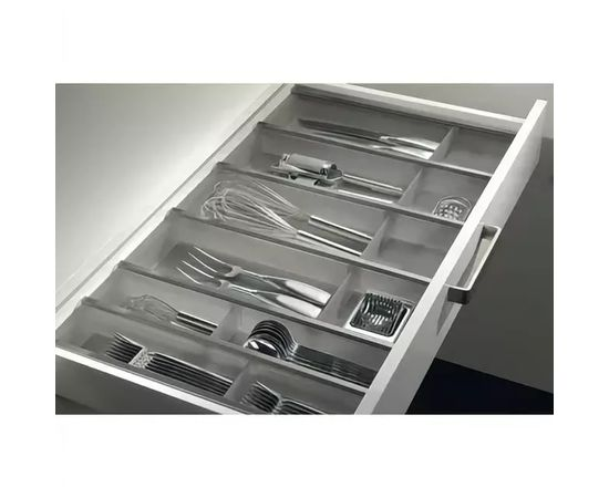Лоток под столовые приборы в шкаф 900 мм графит NINKA для ящика Blum Tandembox глубиной 500 мм (12240025), фото 1