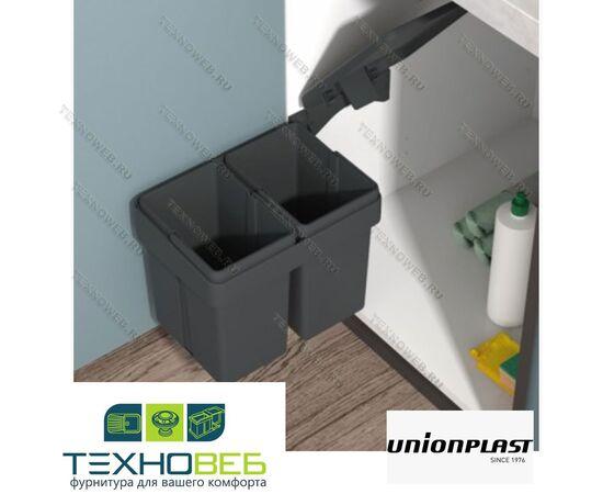 Ведро для раздельного сбора мусора двойное UnionPlast (Италия) (820110201), фото 1