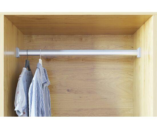 Штанга для шкафа 15х30 мм, L=3000мм, отделка алюминий + серый металлик (T006-G), фото 1