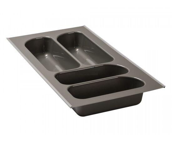 Лоток для столовых приборов FUTURA, ширина фасада 300 мм для ящика Blum Tandembox, цвет - серый Agoform (12010013), фото 1