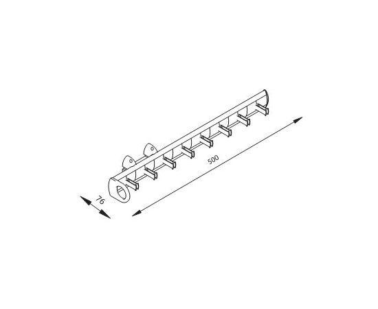 Выдвижной держатель для ремней, отделка алюминий полированный + транспарент ARMADIO (SSNCP152L), фото 1