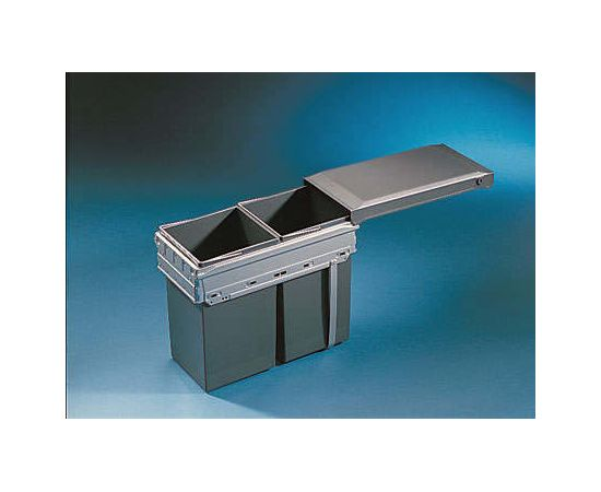 Мусорное ведро встраиваемое в выдвижной ящик с релингами шириной 300 мм - Tandem Hailo (3663-10), фото 2