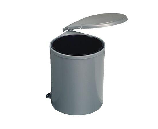 Ведро для мусора (11л), пластик серый (97G), фото 1