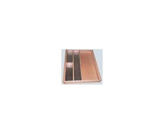 Лоток для столовых приборов 450 с 3 вкладышами из нерж. стали (Mepla) FIT (7212), фото 1