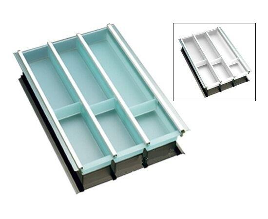 Лоток под столовые приборы в шкаф 400 мм белый NINKA Tandem Box Blum и Nova Pro Grass глубиной 500 мм (2251.50.40686), фото 1