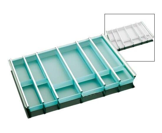 Лоток под столовые приборы в шкаф 800 мм белый NINKA Tandem Box Blum и Nova Pro Grass глубиной 500 мм (2256.50.40686), фото 1