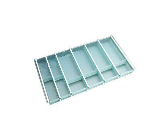 Лоток под столовые приборы в шкаф 900 мм аквамарин NINKA Tandem Box Blum и Nova Pro Grass глубиной 500 мм (2257.50.40650), фото 1