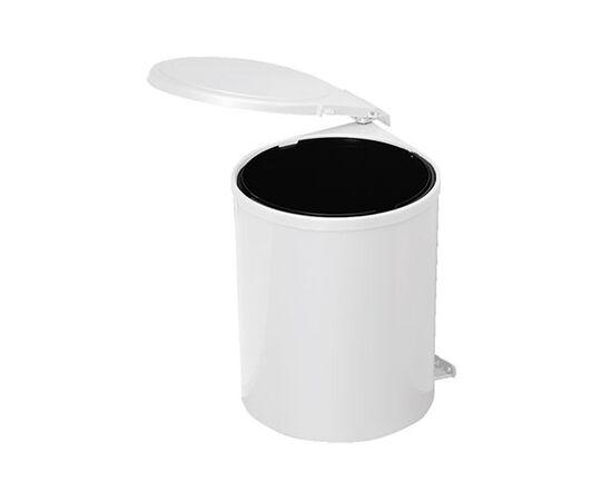 Ведро для мусора (11л), пластик белый (97B), фото 1