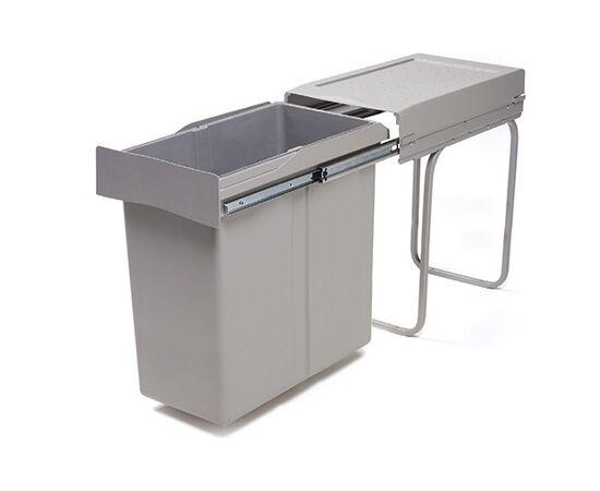 Ведро для мусора (40л) выдвижное, пластик серый (294.GS), фото 1