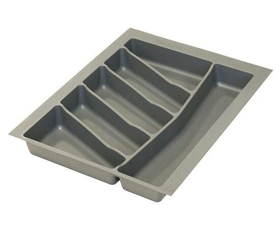 Ёмкость в базу 450 для столовых приборов, пластик орион серый (32\76.NN45.GP), фото 1