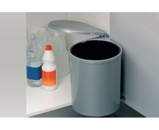 Ведро для мусора (13л), пластик серый металлик (6.270.MT), фото 1