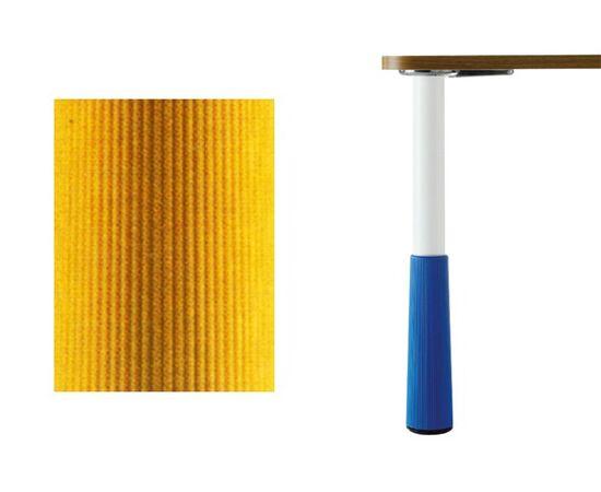 Ножки для стола KINDER d.50 Н580, цвет белый RAL9003 + жёлтый, комплект 4 штуки (654.58.01.81.04), фото 1
