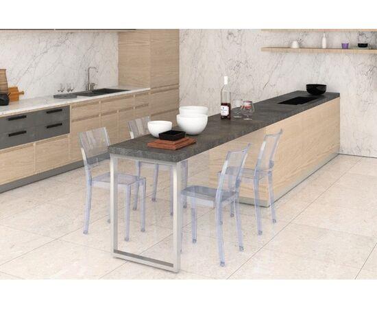 Опора для стола Мадрид l.595, h.720, отделка сталь нержавеющая (ОП08-72R.INOХ), фото 1