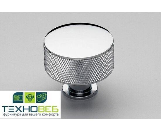 Мебельная ручка-кнопка, отделка хром глянец ММ (KB-B-4156-35-C), фото 1