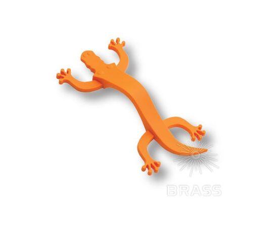 Ручка мебельная скоба детская, крокодил оранжевый 96 мм BRASS (450096ST08), фото 1