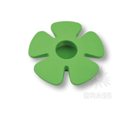 Ручка мебельная кнопка детская, цветок зеленый (435025ST06), фото 1