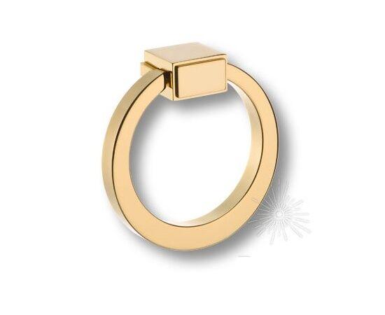Ручка мебельная кольцо модерн, глянцевое золото (BU 013.80.19), фото 1