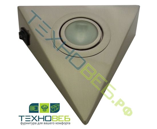 Светильник стандартный, AIRON-1.2 комплект из 3-х штук + трансформатор 60W. Цвет: никель, фото 1